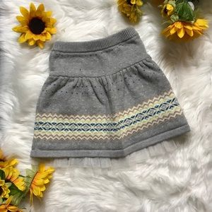 Baby Gap fair isle sweater skirt